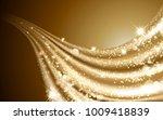 wavy golden satin  glittering... | Shutterstock . vector #1009418839