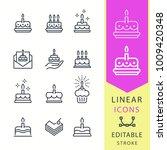 cake   line vector icon set....   Shutterstock .eps vector #1009420348