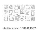 graphic design concept line... | Shutterstock .eps vector #1009421539