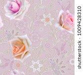seamless pattern. decorative... | Shutterstock . vector #1009428310