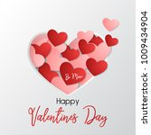 be mine happy valentines day...   Shutterstock .eps vector #1009434904