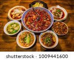 chinese food of sichuan cuisine | Shutterstock . vector #1009441600