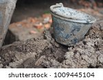 old cement tanks are placed on... | Shutterstock . vector #1009445104