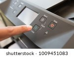 fingers hand press button on... | Shutterstock . vector #1009451083