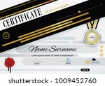 white official certificate with ... | Shutterstock .eps vector #1009452760
