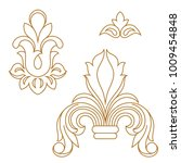 golden vintage baroque ornament ... | Shutterstock .eps vector #1009454848