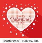 happy valentines day stylish... | Shutterstock .eps vector #1009457686