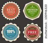 vintage labels set. vector... | Shutterstock .eps vector #100946320