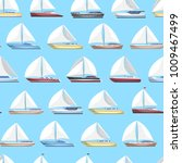 sea sail yachts seamless... | Shutterstock .eps vector #1009467499