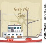 into the sea poster with... | Shutterstock .eps vector #1009467538