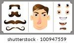 set of mustache | Shutterstock .eps vector #100947559
