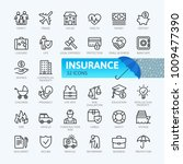 insurance elements   minimal... | Shutterstock .eps vector #1009477390