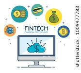 fintech investment financial... | Shutterstock .eps vector #1009477783