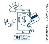 fintech investment financial... | Shutterstock .eps vector #1009477789