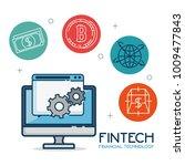 fintech investment financial...   Shutterstock .eps vector #1009477843
