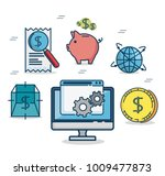 fintech investment financial... | Shutterstock .eps vector #1009477873