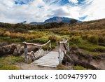 Rustic Wooden Bridge On A...