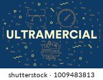 conceptual business... | Shutterstock . vector #1009483813