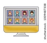 people gallery picture profiles ... | Shutterstock .eps vector #1009487338
