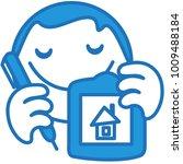 emoji with digital artist shows ...   Shutterstock .eps vector #1009488184