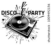 disco party   black and white... | Shutterstock .eps vector #1009492156