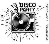 disco party   black and white... | Shutterstock .eps vector #1009492159