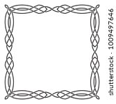 square black celtic frame.... | Shutterstock .eps vector #1009497646