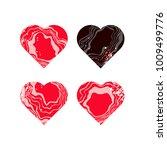 set of hearts | Shutterstock .eps vector #1009499776