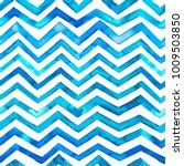zig zag blue watercolor... | Shutterstock . vector #1009503850