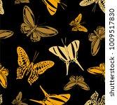 fresh seamless butterfly... | Shutterstock .eps vector #1009517830