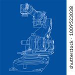 industrial robot manipulator or ... | Shutterstock .eps vector #1009523038