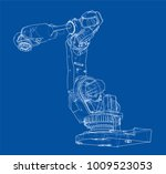 industrial robot manipulator.... | Shutterstock .eps vector #1009523053