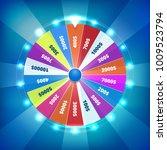 fortune wheel spin vector... | Shutterstock .eps vector #1009523794