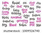 blog modern ink brush...   Shutterstock .eps vector #1009526740