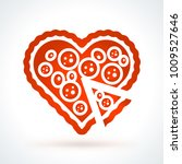 heart shaped pizza. st.... | Shutterstock .eps vector #1009527646