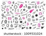 hand drawn social media doodles ...   Shutterstock .eps vector #1009531024