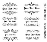 set of vector vintage frames on ... | Shutterstock .eps vector #1009531243