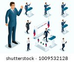 isometrics mr. president ... | Shutterstock .eps vector #1009532128