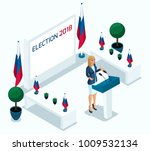 isometry is a woman president ... | Shutterstock .eps vector #1009532134