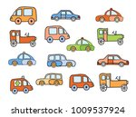 set of toy sketches of car | Shutterstock . vector #1009537924