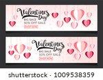 valentines day sale background... | Shutterstock .eps vector #1009538359