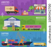 delivery and logistics banners... | Shutterstock . vector #1009542700