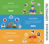 car service horizontal banners... | Shutterstock . vector #1009542730