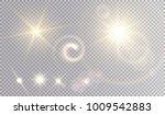 various yellow light effects... | Shutterstock .eps vector #1009542883