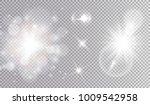 white lights cosmic design set. ... | Shutterstock .eps vector #1009542958