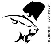Roaring Cougar Vector Design  ...