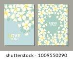 tropical exotic plumeria... | Shutterstock .eps vector #1009550290