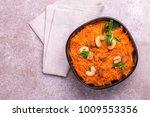 traditional indian cuisine.... | Shutterstock . vector #1009553356