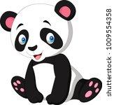 cartoon cute panda isolated on... | Shutterstock .eps vector #1009554358