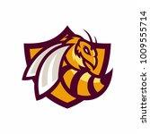 bee   vector logo icon... | Shutterstock .eps vector #1009555714
